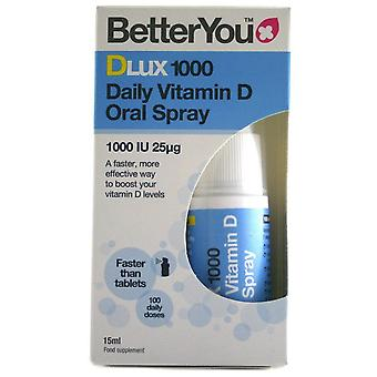 BetterYou DLux 1000 Daily Vitamin D Oral Spray 15 ml