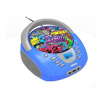 Daewoo DBU-10 Graffiti FM Blue Portable Bluetooth Radio