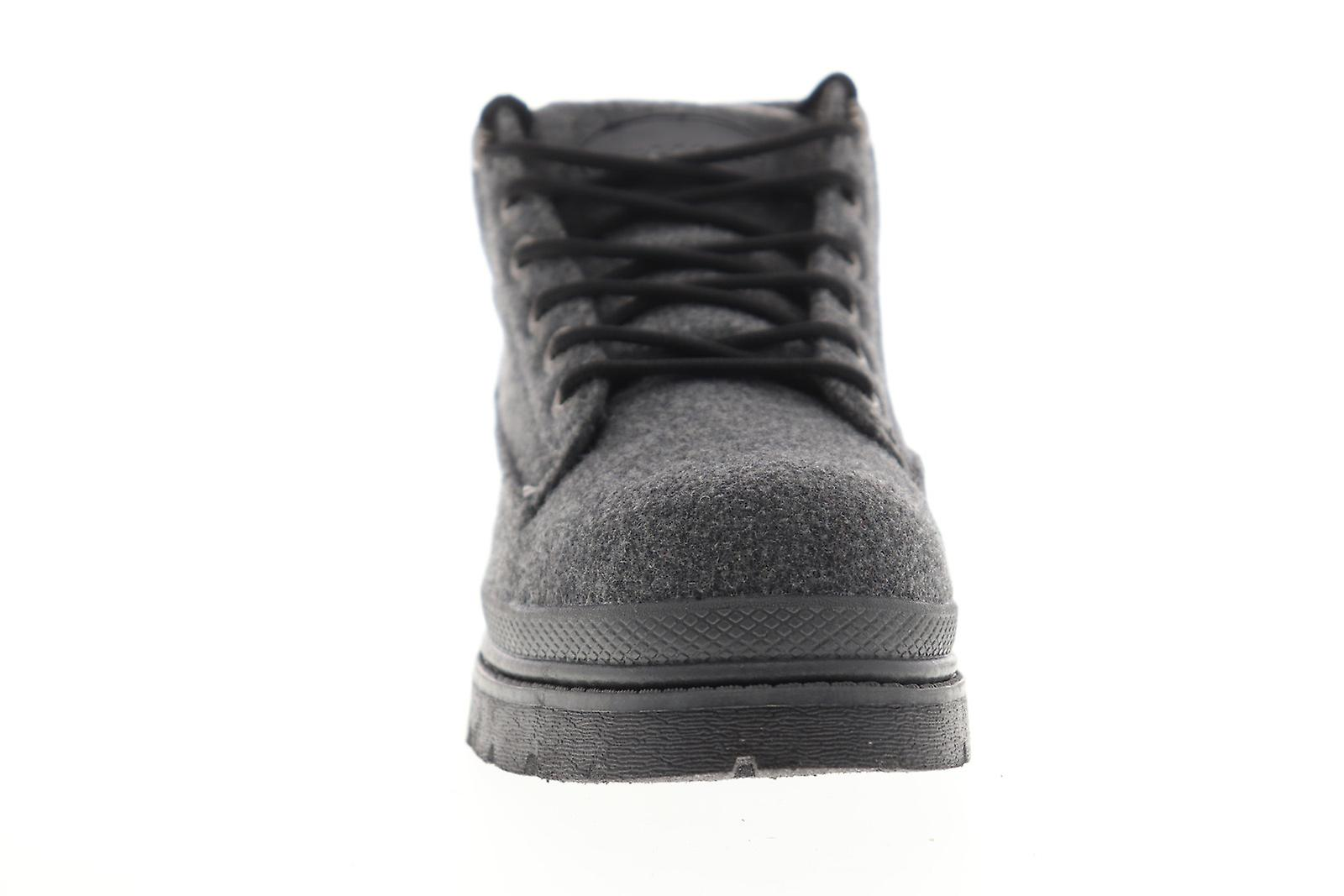 Lugz Drifter Peacoat Mens Gray Suede Lace Up Casual Dress Boots