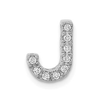 14k White Gold Diamond Letter Name Personalizado Monogram Initial J Charm Pendant Colar Joias Joias para Mulheres