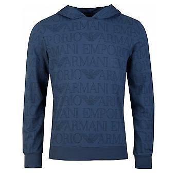 Emporio Armani All Over Logo Pullover Hoody