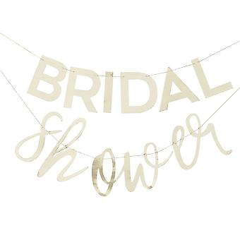 Gold BRIDAL SHOWER Bunting - Hen Party Decorations 3m