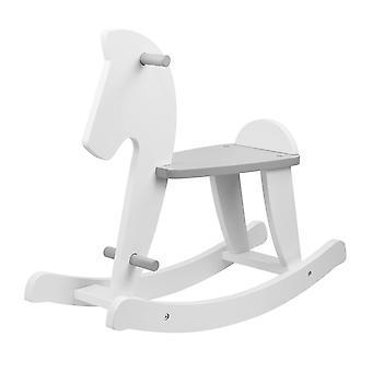 Rocking horse Nino, white/ grey, 79x26x63 cm