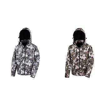 Result Core Mens Camo TX Performance Hooded Softshell Jacket