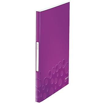 Leitz WOW Display Book 40 Pockets Purple