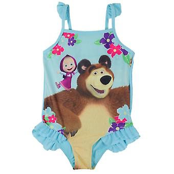 Masha and the bear girls swimsuit swimwear
