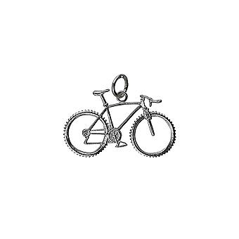 Silver 17x29mm Bicycle Pendant or Charm