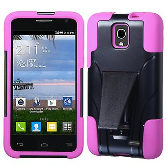 ASMYNA Inverse Advanced Armor Stand Case for OneTouch Pop Star - Hot Pink/Black