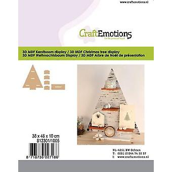 CraftEmotions MDF 3D Árvore de Natal 380x460x100mm