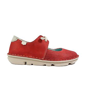 On Foot Francesita Elasticos 30100 Red Nubuck Leather Womens Mary Jane Slip On Shoes