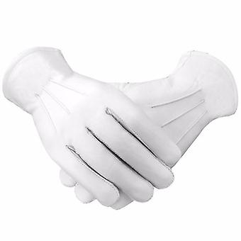 Masonic soft leather gloves plain