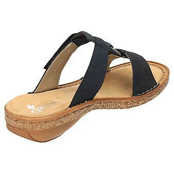 Rieker resbalón en el Mule sandalias dedo del pie abierto 62885-14