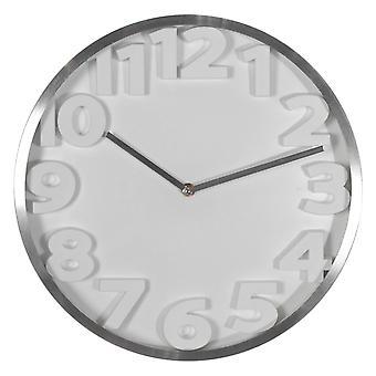 Wellindal 35cm aluminum wall clock 3d numbers (Decoration , Clocks)