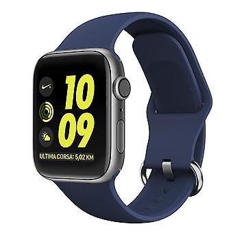 Apple Watch βραχιόλι σιλικόνης 38/40 - Σκούρο μπλε