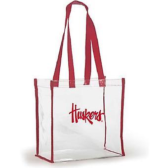 Nebraska Cornhuskers NCAA Clear Stadium Tote Bag