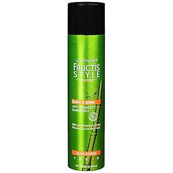 Garnier fructis style sleek & shine hairspray, ultra strong, 8.25 oz