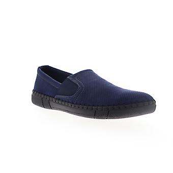 Robert Wayne TF Road  Mens Blue Suede Casual Slip On Loafers Shoes
