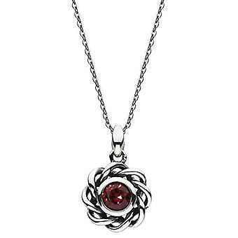 Heritage 9234JAN Red crystal pendant necklace - Sterling silver - 45 -7 cm long