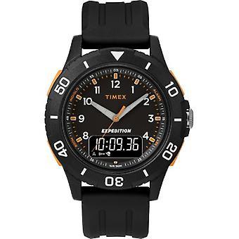 Tw4B16700, Timex Men'S Tw4B16700 Expedition Katmai Combo 40Mm Black Resin Strap Watch