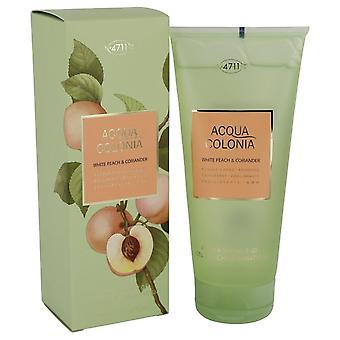 4711 Acqua Colonia White Peach & Coriander Shower Gel By Maurer & Wirtz 6.8 oz Shower Gel