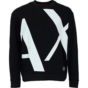 Armani Exchange Oversize Ax Logo Sweatshirt