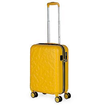 Lois Zion Handbagage Trolley S, 4 Wielen, 36 cm, 33 L, Geel