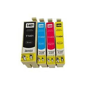 T1401 Series Compatible Inkjet Set Of 4 Cartridges