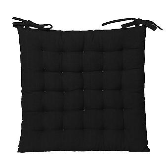Outdoor Solid Chair Pad 40x40cm Black