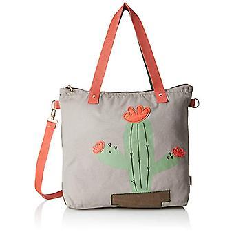 Adelheid Lebensk nstlerin Einkaufstasche - Women Grey Shoulder Bags (Kieselgrau) 10x43x435 cm (B x H T)