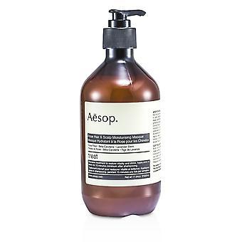 Rose hår og hodebunn fuktighetsgivende maske (for alle hårtyper) 102598 500ml/17.64oz