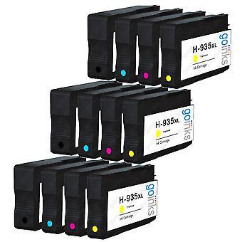 3 ensembles compatibles de 4 cartouches d'encre d'imprimante HP 934 & 935XL