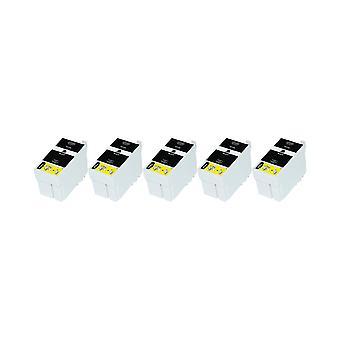 RudyTwos 5 x замена единицы чернил Epson 27XL(AlarmClock) черный совместимый с рабочей силы WF-3620, WF-3620DWF, WF-3640DTWF, WF-7110DTW, WF-7210DTW, WF-7610DWF, WF-7620DTWF, WF-7620TWF, WF-7710DWF