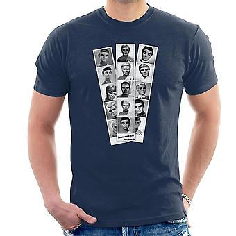 Thunderbirds Black and White Character Passport Design Uomini' T-Shirt