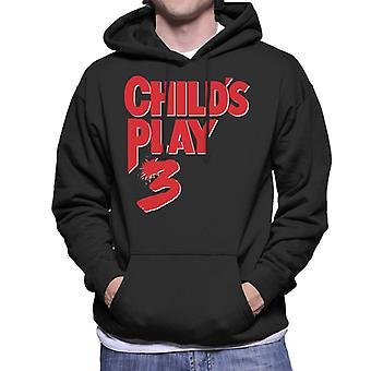 Chucky Childs Play 3 Classic Red Logo Men's Hooded Sweatshirt