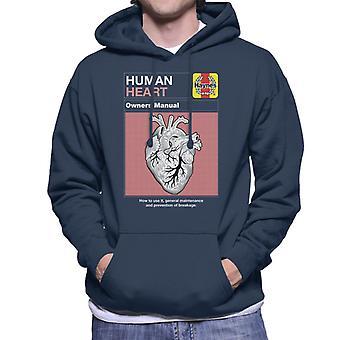 Haynes menschliche Herz Besitzer Manuelle Männer's Kapuzen Sweatshirt