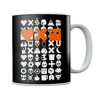 Love Death And Robots White Icons Mug