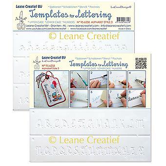Leane Creatief Templates for Lettering Alphabet 3
