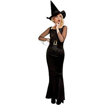 Glam Hexe Kostüm Erwachsene Schwarz