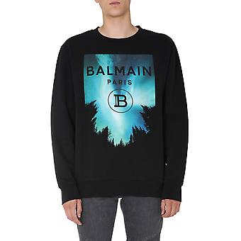 Balmain Uh13419i303aaa Men's Black Cotton Sweatshirt