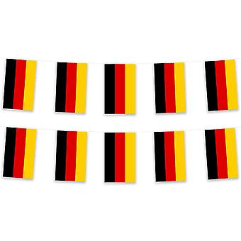 Duitsland Bunting 5m Polyester stof onderdaan van een land