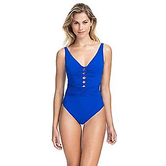 Profile by Gottex Women's Center Detail V-Neck One Piece Swimsuit, Date Night...