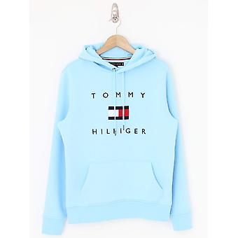 Tommy Hilfiger Tommy Flag Hooded Sweat - Sail Blue