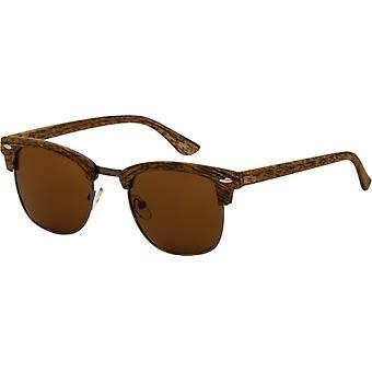 Sunglasses Unisex wooden look light brown (AZB-040 P)