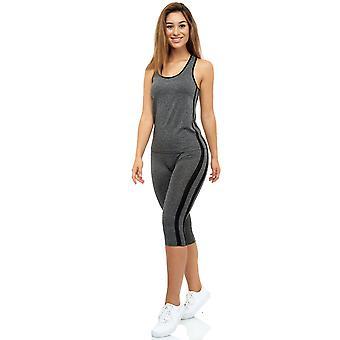 Mujeres 2 piezas traje deportivo fitness set top y alta cintura leggings Yoga Combi