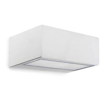 Leds-C4 Nemesis Aluminium - 1 lys udendørs væg lys hvid IP44