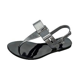 Womens Zaxy Sandals Glaze Sandal Bow Beach Flip Flops - Black Glitter