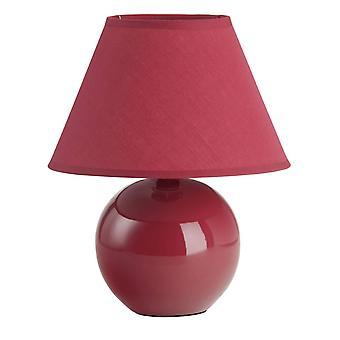 Lampada BRILLIANT Primo Lampada Da tavolo Rosso 1x D45, E14, 40W, adatto per lampade a goccia (non incluso) Scala da A a