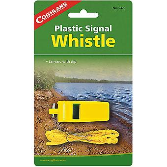 Coghlan's Plastic Signal Whistle w/ Lanyard, Safety Survival Camping Emergency