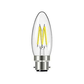 Energizer® LED BC (B22) Candle Filament Non-Dimmable Bulb, Warm White 470 lm 4W
