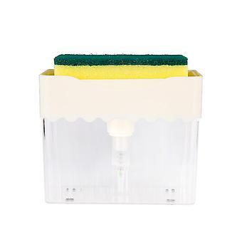 Dozownik mydła do naczynia do umywalki z gąbką Do mycia tidy narzędzie do czyszczenia Instant Refill Soap Dispenser Case Akcesoria kuchenne